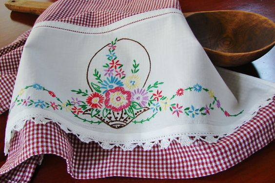 Garden Basket Tea Towel - from TwoGirlsLaughing (Etsy)