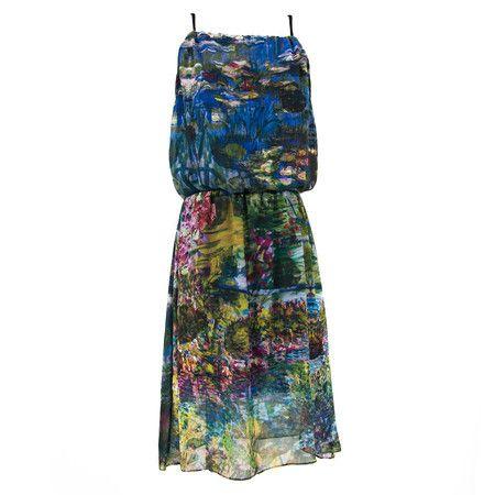 Vestido Fita As Férias de Monet