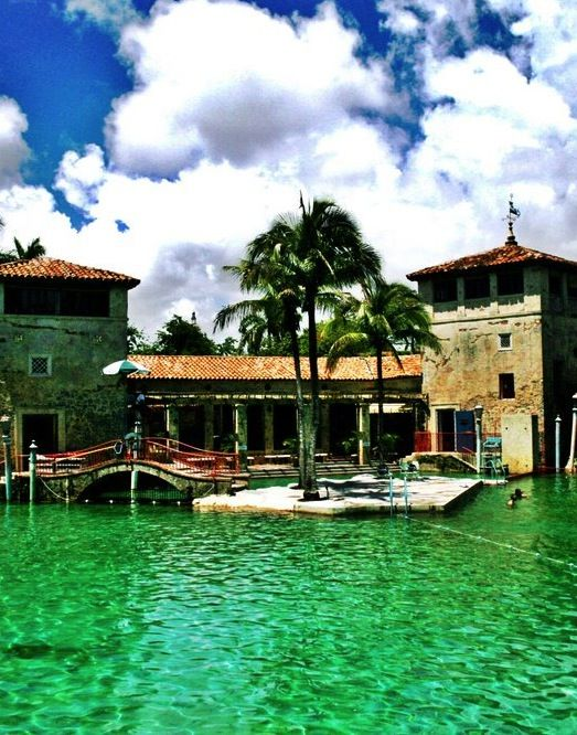 Just outside Miami is the Venetian Pool in coral Gables Florida.