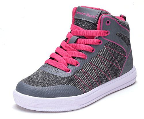 New Girls Tennis Shoes High Top Glitter