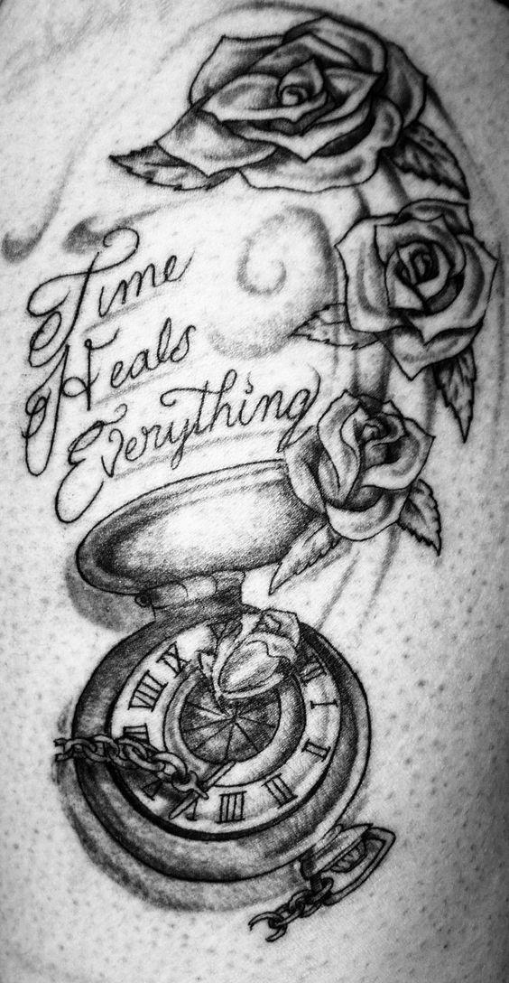 time heals everything by on deviantart tattoos pinterest. Black Bedroom Furniture Sets. Home Design Ideas