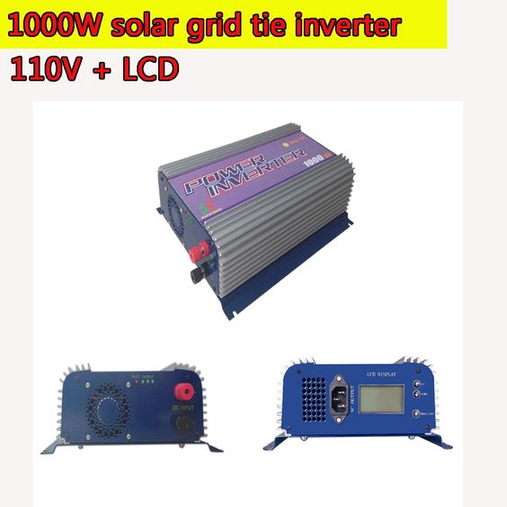 176.00$  Buy now - http://ali2ru.worldwells.pw/go.php?t=32527726445 - 1000W Grid Tie Inverter LCD 110V Pure Sine Wave DC to AC Solar Power Inverter MPPT 22V to 60V or 45V to 90V Input High Quality