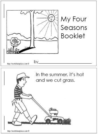 four seasons booklet pre k weather seasons for preschool pinterest seasons the o 39 jays. Black Bedroom Furniture Sets. Home Design Ideas