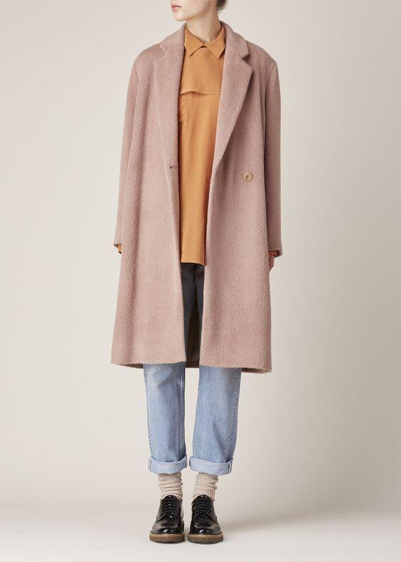 Acne Studios Elga Hairy Coat (Dusty Pink)