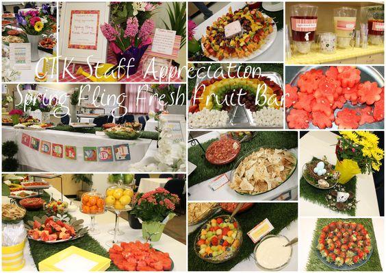 Staff Appreciation Spring Fling Fresh Fruit Bar Teacher