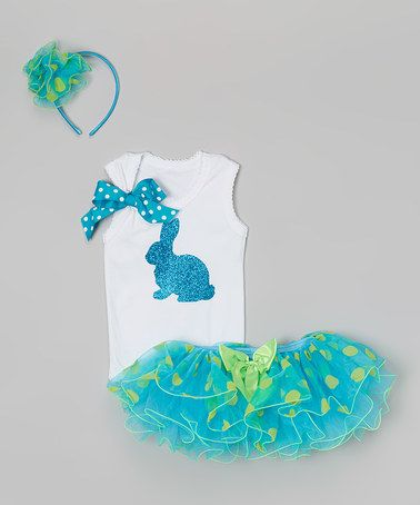 Another great find on #zulily! Blue & Green Polka Dot Tutu Set - Infant, Toddler & Girls by So Girly & Twirly #zulilyfinds