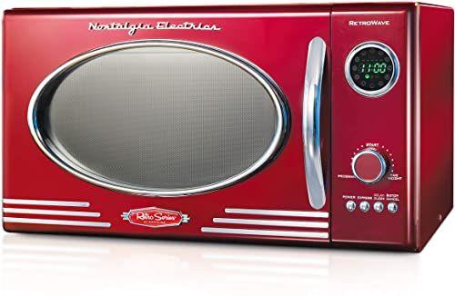 New Nostalgia Rmo4rr Retro Large 0 9 Cu Ft 800 Watt Countertop