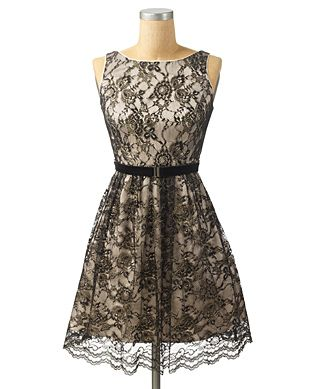jessica simpson. lace tank dress.