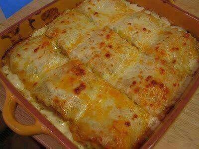 Alfredo and chicken lasagna