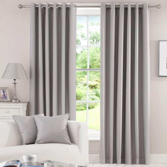 Dunelm Home: Waters And Noble Grey Herringbone Blackout Curtain