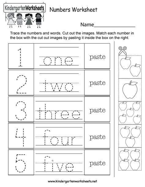 This Is A Fun Numbers Activity Worksheet For Kindergarten Kids Children Can P Kindergarten Math Worksheets Free Free Kindergarten Worksheets Numbers Preschool