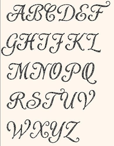 Printable Alphabet Shardee Font Template Pattern In Pdf For