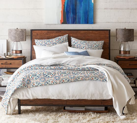 Juno Reclaimed Wood Bed With Images Reclaimed Wood Beds