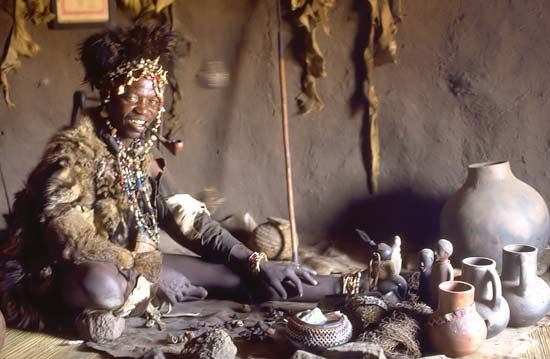 Africa |  A traditional healer of the Shona people of Zimbabwe. | © Hans Hillewaert