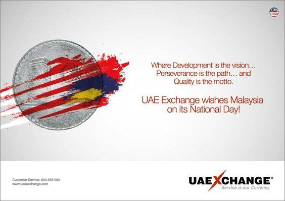 Selamat 57th #HariMerdeka, Malaysia. UAE Exchange wishes #Malaysia on its #NationalDay.