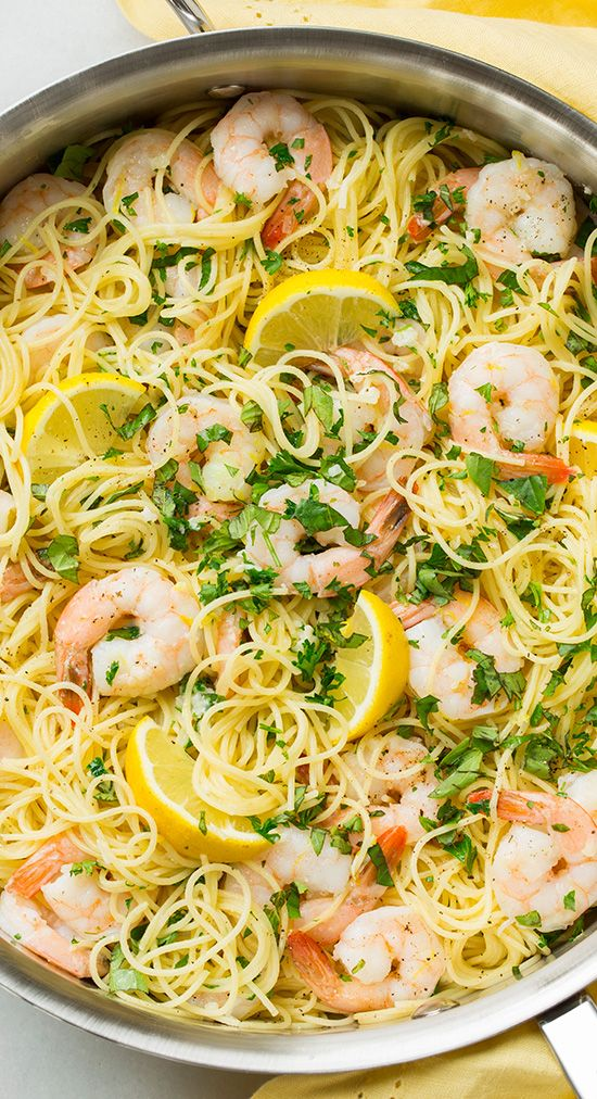 Lemon-Parmesan Angel Hair Pasta with Shrimp | Recipe | The ...