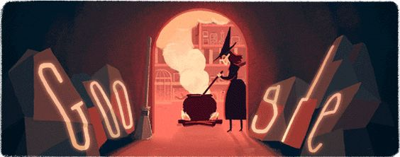 Today's Google homepage is ready for #Halloween