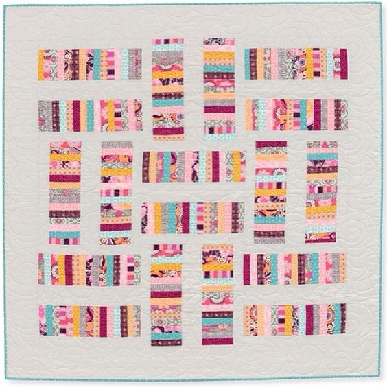 rachelgriffith's photo: in a continuing effort to document all of my quilt making over the past couple of years, i'm sharing all of the quilts from my book, quilts made with love. my goal is to share one quilt a day. today's quilt is epilogue. it's perfect for scraps and goes together quickly! #quiltsmadewithlove
