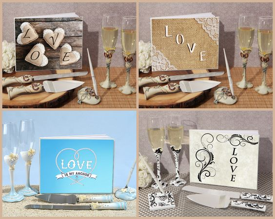Love Wedding Accessory Set from HotRef.com