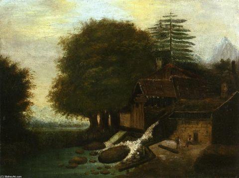 paul cezanne, Gospodarstwa rolne, Mills, krajobraz z młynem 1860