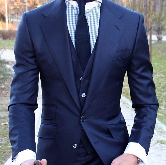 Classic blue 3 piece suit | Suited | Pinterest | Posts, Bespoke