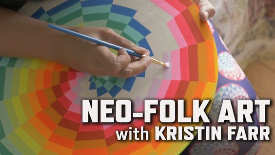 Inspired by traditional art forms and neon colors of the '80s, artist Kristin Farr explores a legacy of folk art infused with her own contemporary viewpoint. Then Farr shows you how she creates one of her signature paintings: the Magic Hecksagon. Follow along as she measures and designs a hexagon pattern, then add your own magic colors to it! Check out the entire collection of KQED Art School videos!