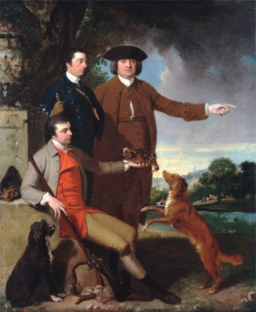 John Hamilton Mortimer.  Self-Portrait with His Father and His Brother (early 1760s):