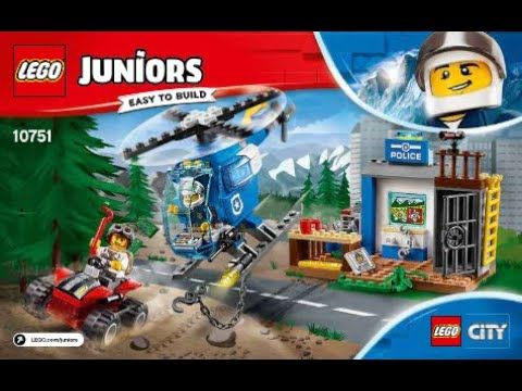 Instructions For Lego 10751 Mountain Police Chase In 2020 Lego Juniors Lego Junior Sets Lego