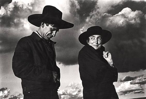 Georgia O'Keeffe and Orville Cox, snapped by Ansel Adams.