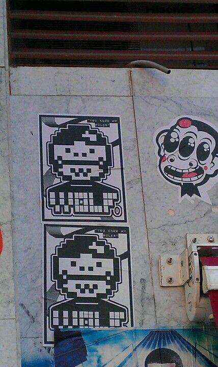 Stencil face @ Madrid, Spain