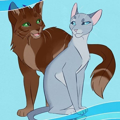 Bluestar And Oakheart Warriorcat With Images Warrior Cat