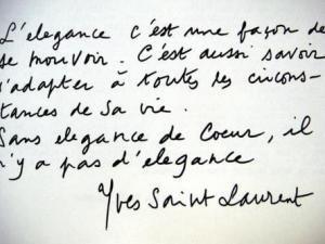 . . .  L' élégance by Yves Saint Laurent