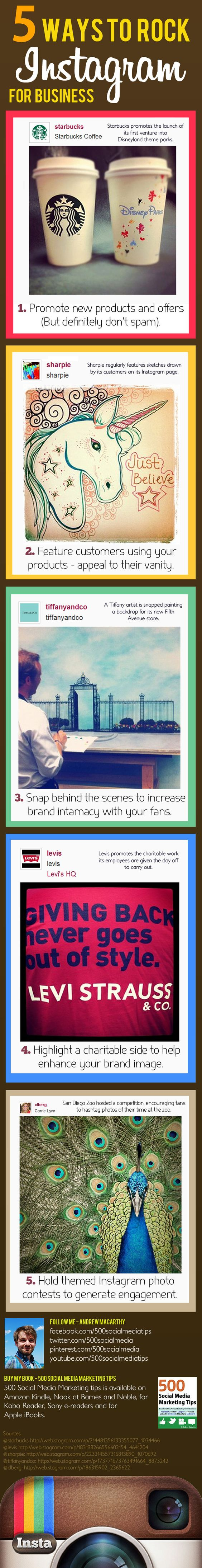 5 ways to rock Instagram for business #infographic