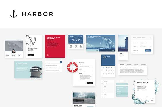 Harbor UI Kit by Erigon on Creative Market