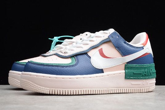 2019 Wmns Nike Air Force 1 Shadow Mystic Navy White Echo Pink