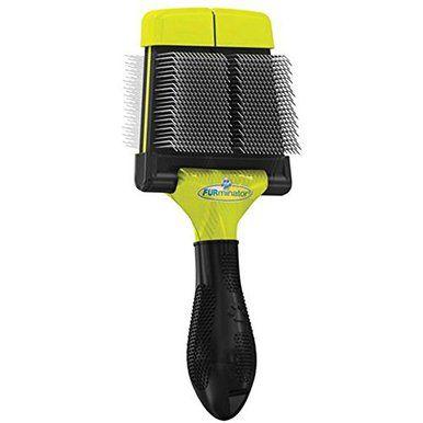 FURminator Dog Slicker Brush Soft Grooming Small Wiry and Silky Coats Small