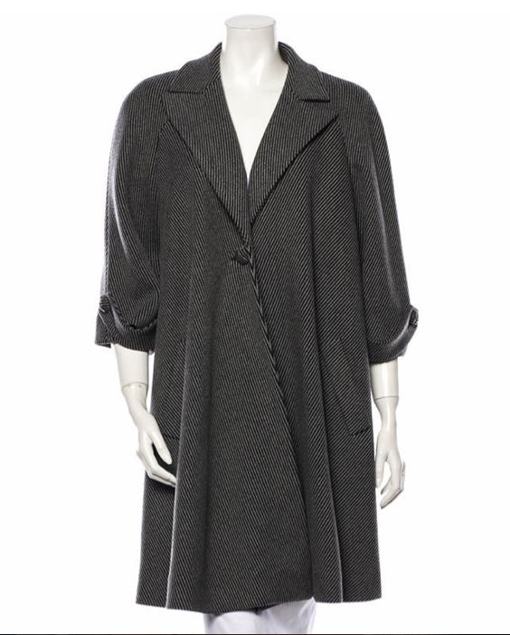 Gorgeous Chanel grey striped wool jacket.  For sale at therealreal.com