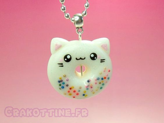 Collier Donut Kawaii: