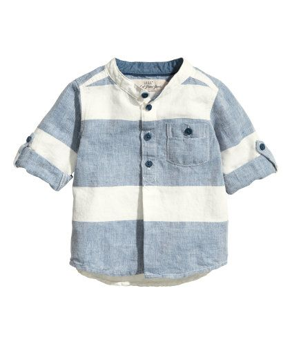 Linen-blend Shirt   Product Detail   H&M