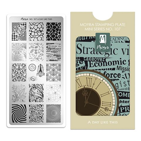Moyra Mini Stamping Plate 107- A Day Like This