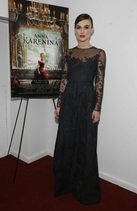 #Keira Knightley en Valentino à l'avant-première d'Anna Karénine