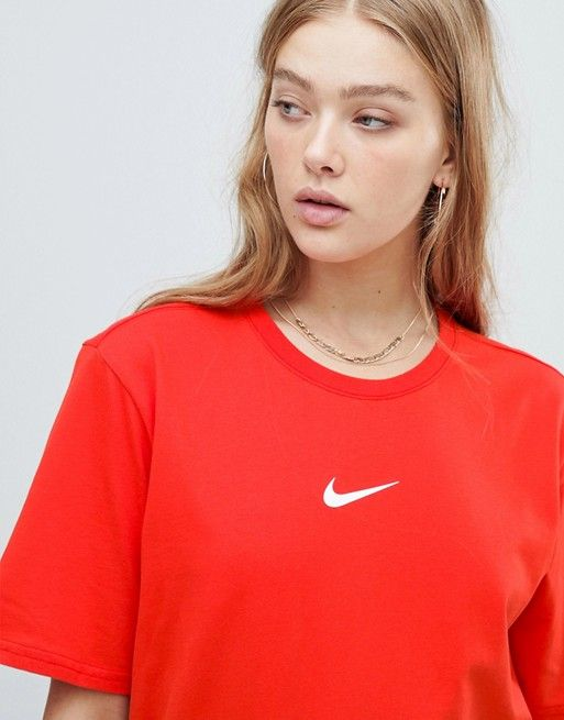 5c8572ca Nike Exclusive To Asos Red Swoosh Pack Boyfriend Fit T-Shirt in 2019 ...