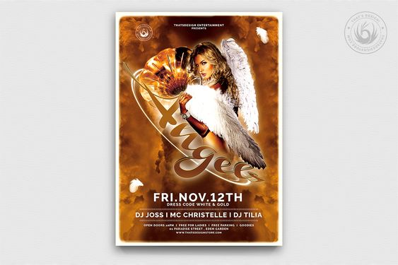 Angels Party Flyer Template Free Posters Design For Photoshop Psd Poster Template Party Flyer Photoshop Flyer Template