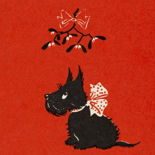 V&A Christmas Cards - Scottie Dog (Pack of 10, Square)  RNWIT  EVAEX