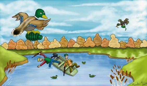 """""""Kamakazi Ducks"""" Cartoon by Spooke"""