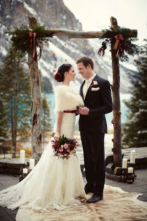Wedding Ceremony, Lake Louise, AB -