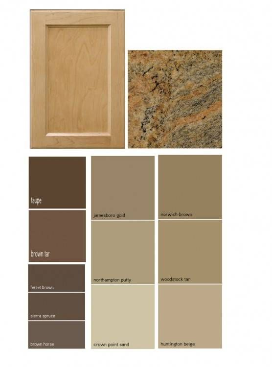 Neutral Kitchen Paint Ideas With Brown Cabinets And Counter Kitchen Cabinet Color Schemes Kitchen Wall Colors Kitchen Colour Schemes