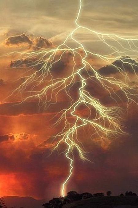 Lightning  travels at speeds of 130,000 mph and can be as hot as 54,000 degrees F. - hot enough to fuse rock and sand into glass.
