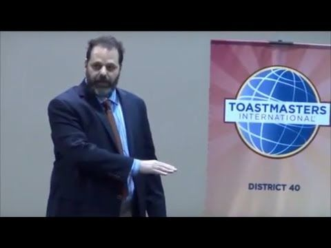 The speech I used at the District 40 contest and then took to the semifinals at the 2014 Toastmasters International convention in Kuala Lumpur, Malaysia.