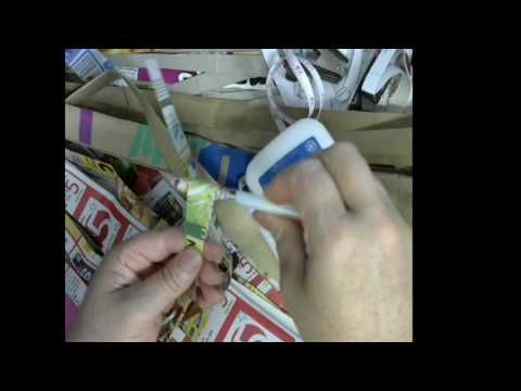 How to make a paper bead with 2 strip 21 long   and  1.1/2 inch wide#1